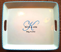 monogrammed platters and trays wedding guest book alternative unique guest book wedding