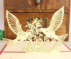 online new years cards 2 designs mixed lovebirds 3d handmade birthday cards specail