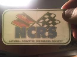 national corvette restorers society vintage ncrs window decal national corvette restorers society