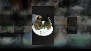 pug dogs wedding cake topper youtube