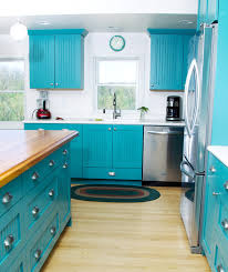 Bold And Blue Cottage Kitchen Eclectic Kitchen Milwaukee - Kitchen cabinets milwaukee