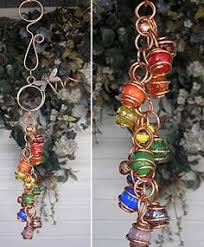 chimes butterfly wind chimes glass copper garden lawn ornament