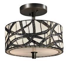 Ceiling Fans With Tiffany Style Lights Dale Tiffany 2 Light Pebble Stone Tiffany Anti Golden Sand Semi