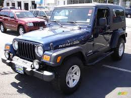 blue jeeps 2006 midnight blue pearl jeep wrangler unlimited rubicon 4x4