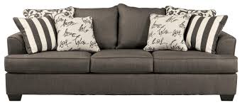 Sofa Mart Appleton by Signature Design By Ashley Levon Charcoal Sofa With Scatterback