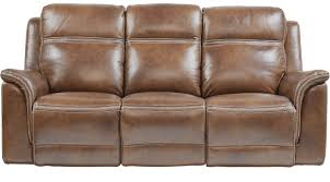 Power Reclining Sofa Barcaccia Brown Leather Power Reclining Sofa Transitional