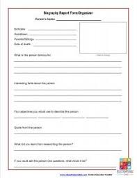 biography graphic organizer worksheets free biography report form template and organizer free printable