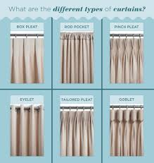 what are the different types of curtains curtain types box pleated curtains