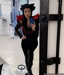 Halloween Costumes Evil Queen Kourtney Kardashian Channels Evil Queen Halloween Costume
