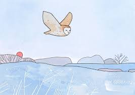 Barn Owl Holidays Barn Owl Holiday Card Frosty Winter Christmas Card