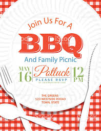 family reunion bbq paper plate invitation template red stock