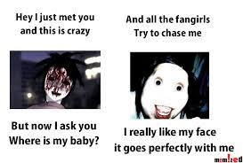 Creepypasta Memes - creepypasta meme bongcheon dong ghost and jeff the killer
