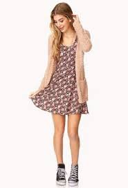 spring style with mini dress and cardigan food fashion