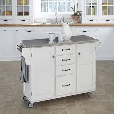 steel kitchen island august grove adelle a cart kitchen island with stainless steel top