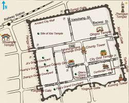 Ancient China Map Pingyao Shanxi China Pingyao Ancient Town Pingyao Tours Facts