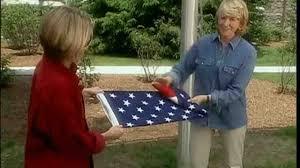 How To Fold Us Flag Video How To Fold An American Flag Martha Stewart