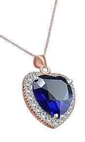 heart necklace from titanic images Titanic heart of the ocean blue sapphire cubic jpg