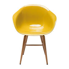 chaise bureau jaune chaise avec accoudoirs design moutarde forum kare design
