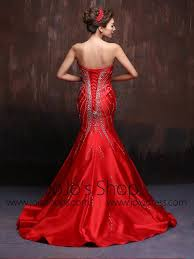 scarlet wedding dress scarlet strapless fit and flare mermaid wedding dress