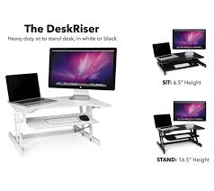 Desk Height Adjusters by Standing Desk The Deskriser Height Adjustable Heavy Duty Sit