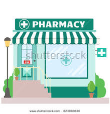 Awning Window Symbol Facade Pharmacy Store Signboard Awning Symbol Stock Vector