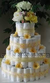 elegant diaper cake photos