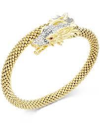 dragon bracelet jewelry images Macy 39 s diamond dragon bypass bracelet 1 ct t w in 14k gold tif