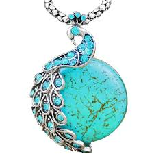 turquoise colored necklace images The peacock pendant necklace jpg
