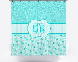 Aqua Blue Shower Curtains Aqua Shower Curtain Etsy