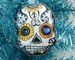 sugar skull decoration day of the dead by theelfinforest