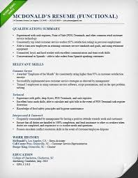 Food Service Resume Example by Functional Resume Samples U0026 Writing Guide Rg