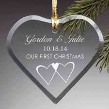 personalized our first christmas glass ornament walmart com