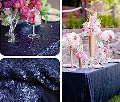 navy blue table linens 2017 new navy blue rectangle sequin tablecloth 120x400cm wedding