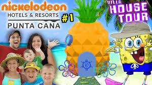 spongebob house tour in real life nickelodeon suites resort