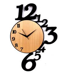 Small Decorative Wall Clocks Panache Wooden Number Wall Clock Sdl067366593 1 50788 Jpg 850 995