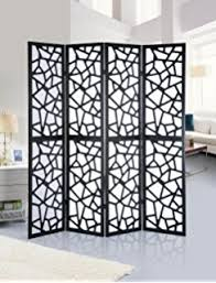 amazon com roundhill furniture 3 panel screen room divider black