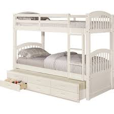 esmeralda twin over twin bunk bed with trundle u0026 reviews allmodern