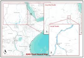 africa map khartoum flood prone areas in the greater horn of africa on the map unitar