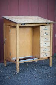 vintage wood drafting table mid century 1950 s drafting table desk eclectibull