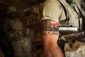 image a us army able company soldier with a 9 11 tattoo quotes
