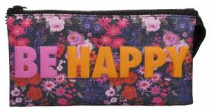 pencil cases whsmith be happy 3 pocket pencil whsmith