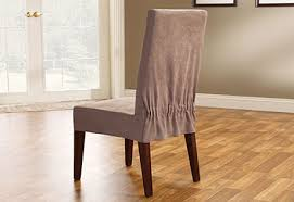 Sure Fit Soft Suede Short Dining Chair Cover - Short dining room chair covers