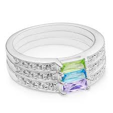 birthstone stackable rings for silver birthstone stack rings