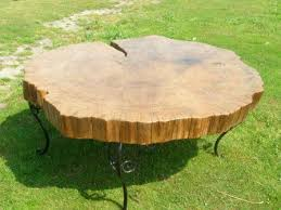 wood disk solid wood oak disk coffee table unique wood furniture