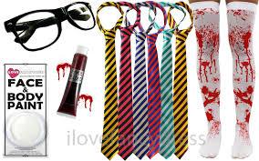zombie halloween fancy dress stockings tie glasses