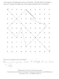 using lines of symmetry students are asked to use a line of