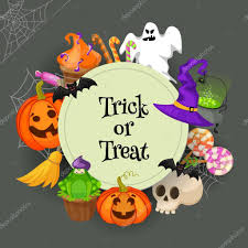 trick or treat halloween background trick or treat traditional sweets and candies for holiday