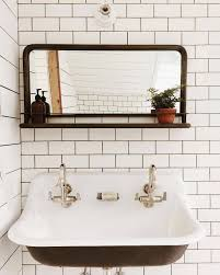 Silver Bathroom Sink Clean Cool Norfolksconce Ceramiclighting Schoolhouseelectric