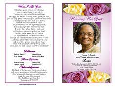 Funeral Program Sample Memorial Service Programs Sample Please Click On A Funeral