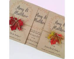 autumn wedding invitations autumn wedding etsy